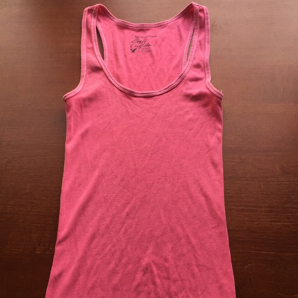 American Eagle Outfitters Tops - American Eagle Pink Racerback Tank Top
